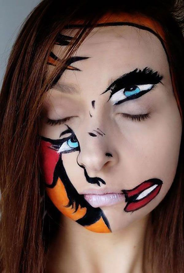 Unique halloween makeup